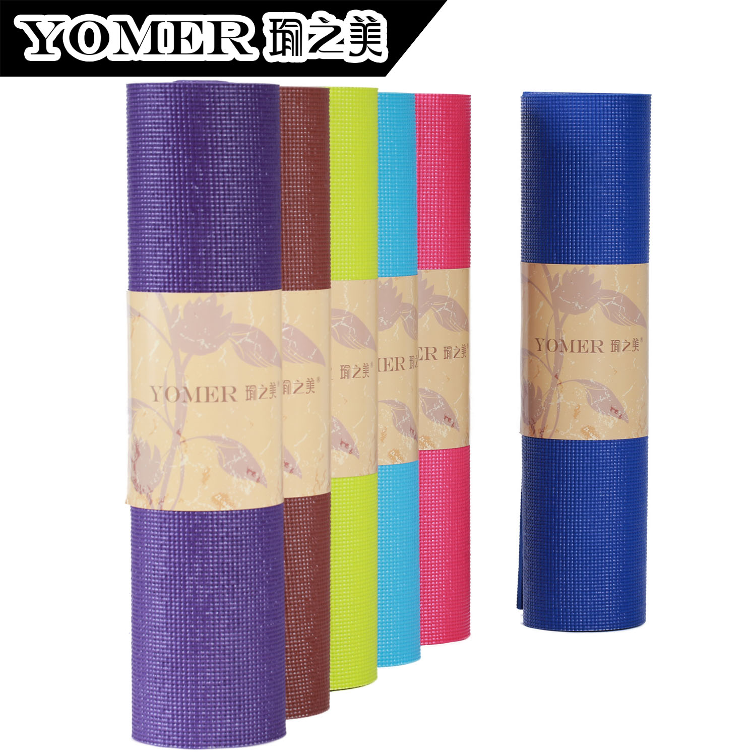 Broadened 6mm lengthen thickening slip-resistant yoga mat yoga carpet fitness mat solid color(China (Mainland))