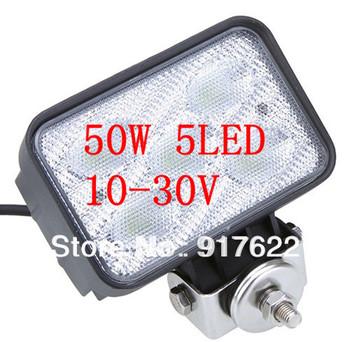 2013 50W 5*LED Super Bright Work Light 10~30V Aluminium alloy Waterproof Fog Light ForJeep SUV ATV Off-road Truck Free Shipping