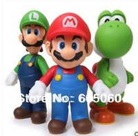 3 pcs SUPER MARIO BROTHERS BROS YOSHI LUIGI COLLECTION FIGURE TOY 10'' free shipping