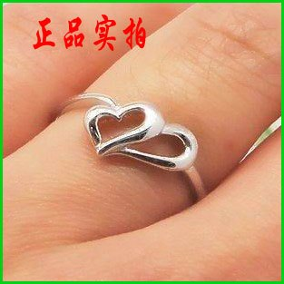 Love eternal brief 925 pure silver ring women's beautiful finger ring wedding ring lovers gift(China (Mainland))