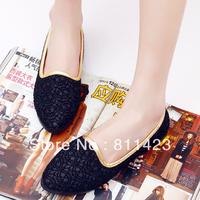Fashion leopard print 25 liner flat foot pedal lace casual single shoes women's shoes