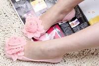Hot Selling Flat Jelly Sandal Flower Bead Slippers Lady's Peep-toe Sandal Shoes