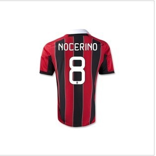 Hot Sell 2013 AC Milan Home Best Thai Quality 8# NOCERINO Soccer Jersey.Soccer Uniforms,Size:S-XL(China (Mainland))