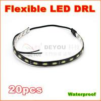 20pcs/lot Free shipping 2013 Newest 30cm 18LED 5630SMD Flexible LED Daytime Running  Light  Waterproof DRL Car Decorative Lights