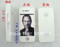 Mini Iphone Shape Portable USB Environment Electronic Windproof Cigarette Lighter - White&Black,in Stock