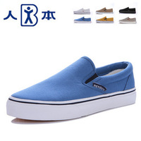 Spring and summer solid color classic shoes lazy shallow mouth pedal gossip lovers unisex canvas shoes