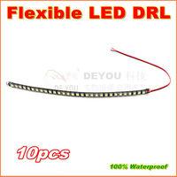 10pcs/lot Free shipping 2013 Newest 30cm 30LED 5050SMD Flexible LED Daytime Running  Light  Waterproof DRL Car Decorative Light