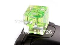 2pcs/lot  3 Axis Spirit Level Triple Bubble Camera Flash Hot Shoe free shipping