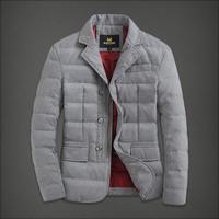 Short in size winter woolen male short design down coat men's clothing plus size outerwear clothes