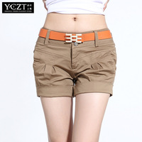Free Shipping** 2013 women's summer trousers candy color casual shorts female plus size