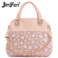 Free shipping wholesale 2013 new women's fashion PU soft lace handbag  woman one shoulder cross-body bag