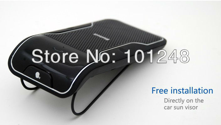Free Shipping New Wireless Bluetooth Handsfree Speakerphone Car Kit With Car Charger Bluetooth Hands free Kit B011C(Hong Kong)