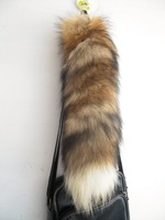 "Fashion Fox Tail ,14-16"" inches length,Wholesale prices,(really natural fox fur) use for bag hanging or keychain"