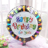 Free Shipping New arrival aluminum circle 45cm birthday balloon birthday decoration balloon