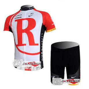 2011 Summer Hotting New Radio Shack Red White Team Bicycle Bike Team Cycling Jersey Short Pants S-3XL Free Shipping(China (Mainland))