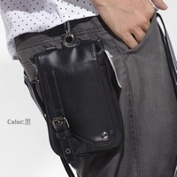 2012 casual boy bag PU small waist pack small messenger bag cigarette packaging male leather waist pack small bags