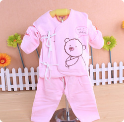 100% cotton baby underwear set spring and summer newborn underwear newborn baby clothes baby summer air conditioning service(China (Mainland))