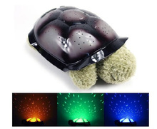 High quality plush turtle projection lamp light sleep starry sky projector lamps general turtle lights green Children's Gifts(China (Mainland))