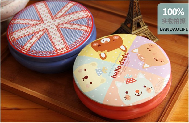 6pcs/lot Cute suitcase zakka Aromatherapy box torage Iron Box Stylish Candy toy metal bag case Free shipping WholesaleS(China (Mainland))