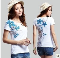 2013 summer plus size clothing slim all-match short-sleeve T-shirt women's new arrival top female