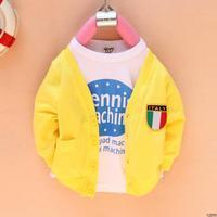 2012 autumn child sweatshirt long-sleeve cardigan long-sleeve baby outerwear boys clothing girls clothing