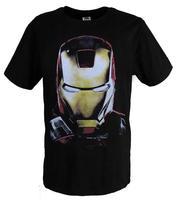 3 t-shirt iron man mark armor head portrait of clothes screen printing