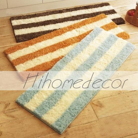 Lovely Stripe Pattern Home Teapoy Door Bath Mats Rugs(China (Mainland))