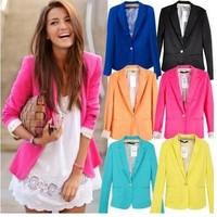 women jacket hot sale women coat women suit blazer foldable brand jacket women clothes suit one button shawl cardigan coat