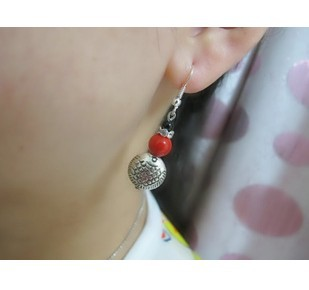 Min order is $15(mix order)China style silver stud earring Fashion jewellery wholesale Free shipping(China (Mainland))