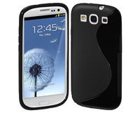 S Line Soft Silicone TPU Gel Case Cover for Samsung Galaxy S3 SIII i9300 Cell Phone Cases, Mix Colors, Free Shipping 10pcs/lot