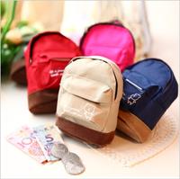 Korean and Japan fashion style Mini school bag belt hasp coin purse ,canvas bag,key wallet,free shipping
