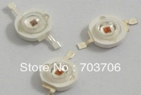Free Shipping 100pcs High power 1W 40-50LM 3.2-3.4V Red led lamp TAIWAN chip