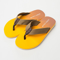 Gradient color comfortable soft insole canvas belt casual flip flops beach slippers 2709