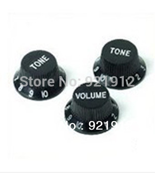 Black Guitars Strat Knob 1-Volume 2-Tone Control Knobs For Fender Stratocaster