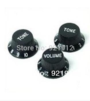 Black Guitars Strat Knob 1-Volume 2-Tone Control Knobs For Fender Stratocaster