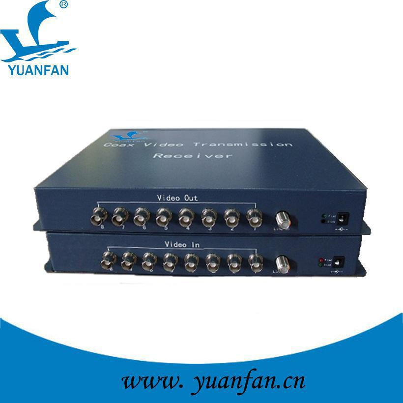 8 channel coaxial video MUX for CCTV security camera,8ch video MUX MODULATOR by coaxial cable(China (Mainland))
