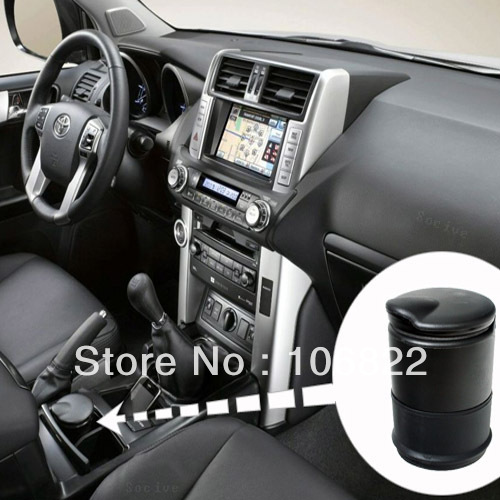 Portable Black Home Travel Car Auto Cigarette Smokeless Ashtray Exquisite Holder XZY0022(China (Mainland))