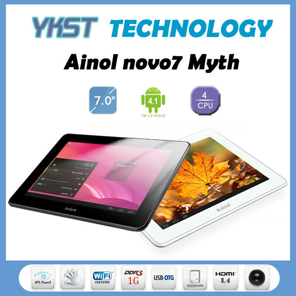 HOT 7&quot; Quad Core Ainol NOVO7 Venus Android 4.1 1GB/16GB WIFI External 3G HDMI OTG Dual Cameras IPS 10-Point Screen Tablet PC(China (Mainland))