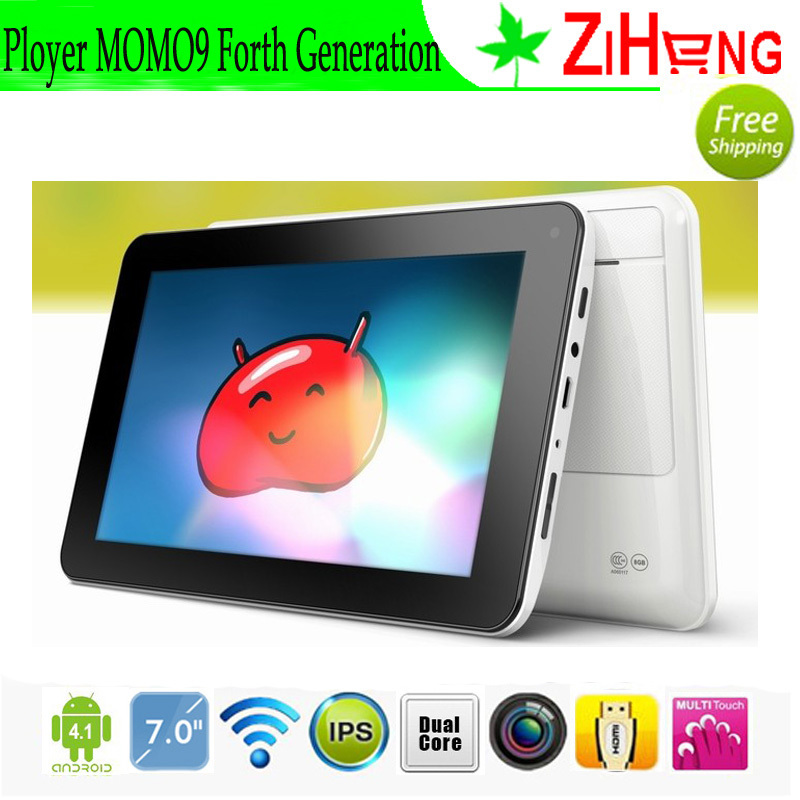 Free Shipping! Ployer MOMO9 forth generation Tablet PC RK3066 1.6GHz Dual Core CPU 1GB DDR3 RAM 8GB Android 4.1 0.3MP Wifi(China (Mainland))