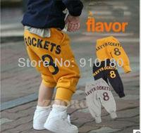 Whloesale 2013 korean fashion 5pcs/lot kids harem pants baby girls boys trousers children clothing spring autumn long pants