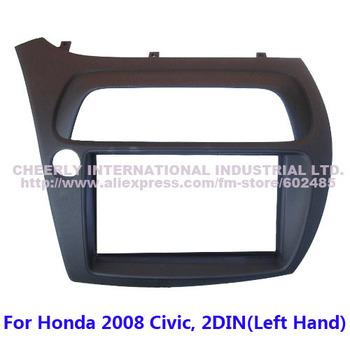 Free shipping 2Din Car DVD Frame,Dash Kit,Fascia,Audio Kits for Honda 2008 Civic, 2 DIN(Left Hand)-FN model, Europe Version