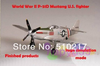 free ship new 1/72 finished world war II piston propeller fighter model military aircraft model P-51D Mustang U.S. fighter