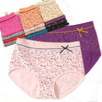 Hot-selling  female panties small mid waist triangle shorts comfortable 100% cotton panties female