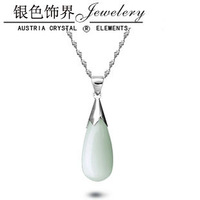 925 pure silver necklace - eye drop pendant tenderness Women short chain birthday gift girlfriend gifts