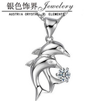925 pure silver necklace dolphin necklace pendant long short design birthday gift