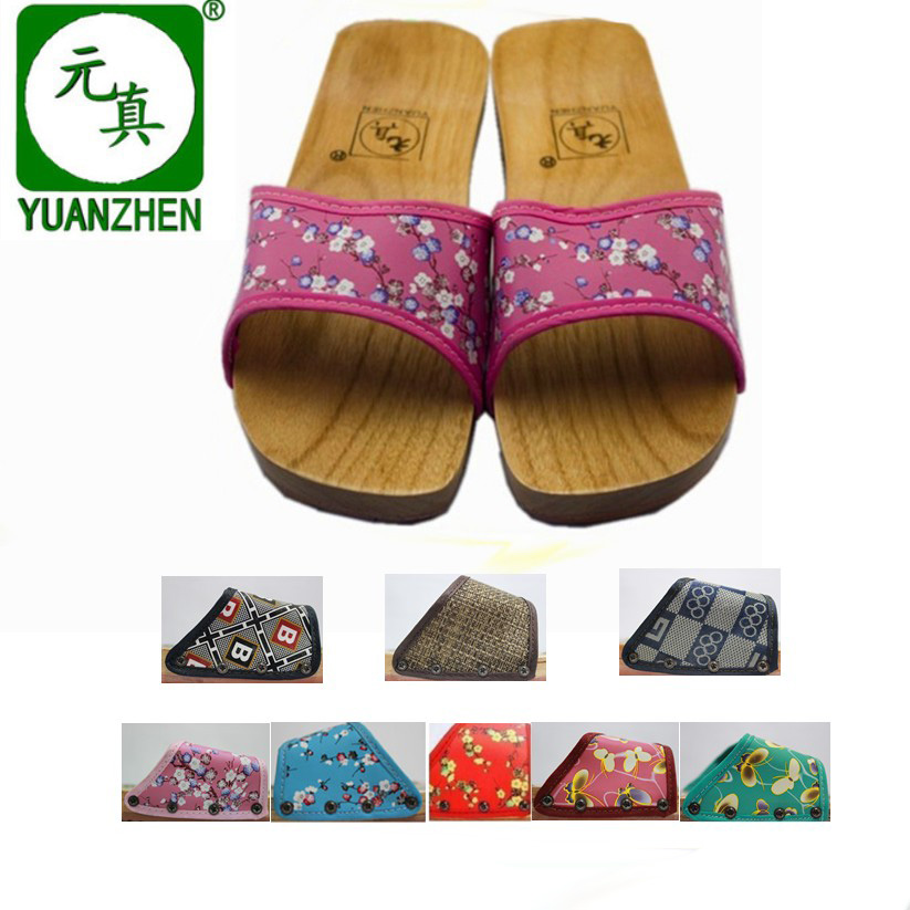 Paint surface flat slip-resistant female wooden male shower shoes Clogs slippers free shipping(China (Mainland))