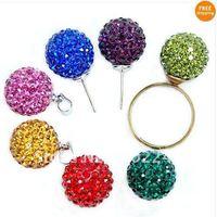Valentines Gift, Free Shipping 10mm Half Drilled shamballa beads, 50pcs/lot