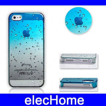 Waterdrop Raindrop Cell Phone Cases for Apple  iPhone 5 iphone5 free 2 in 1 iphone 5 Screen Protector Gift  Free Shipping