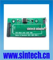 6+12pin mini SATA to 2.5/3.5-inch 22pin SATA Adapter converter Card for Sandisk SASA5JK Asus UX31 UX21 ADATA XM11 xm11zzb5 SSD