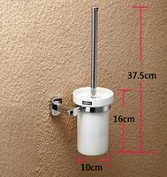 Copper bathroom accessories fashion brief toilet brush set lengthen anti-odor ceramic cup hole-digging BR-FA-77257